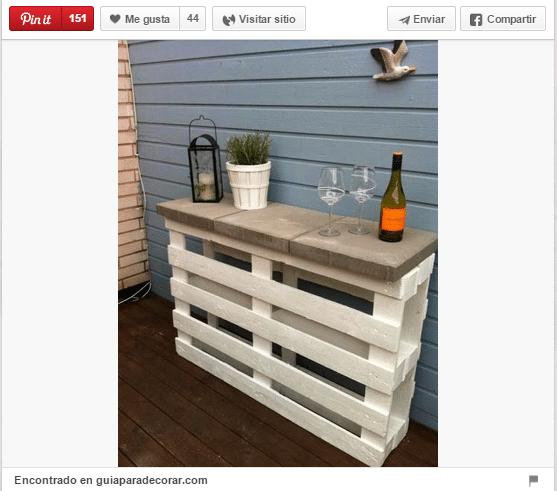 18 Ideas para decorar espacios exteriores con palets - Trucos de ...