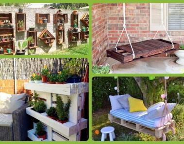 18 ideas para decorar espacios exteriores reciclando palets