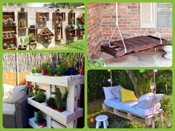 18 ideas para decorar espacios exteriores con palets for Ideas jardines exteriores