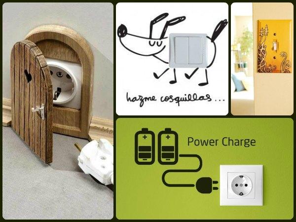 17 ideas para decorar tus enchufes e interruptores - Trucos para el hogar decoracion ...