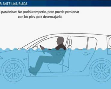 Cómo actuar si te sorprende una riada con el coche