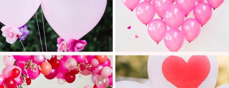 Ideas de decoración con globos para San Valentín