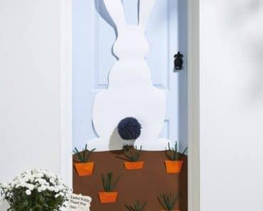 Decoración de Pascua para la puerta de la entrada