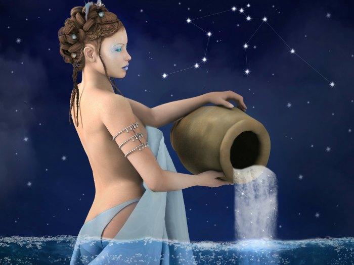 El portador de agua es el símbolo de Acuario
