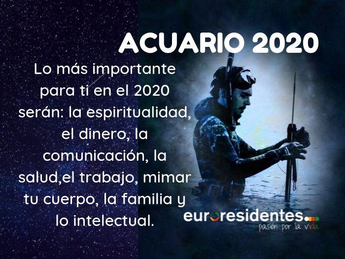 Horóscopo Acuario 2020