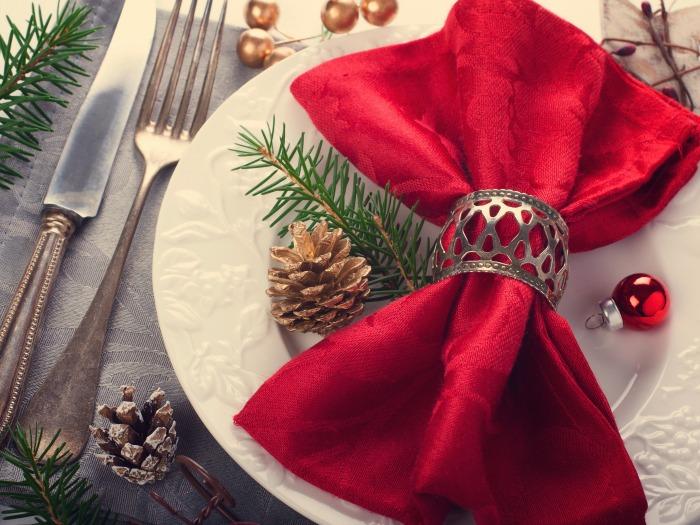 Adorno para mesa navide a cl sica - Adornos navidenos para mesas ...