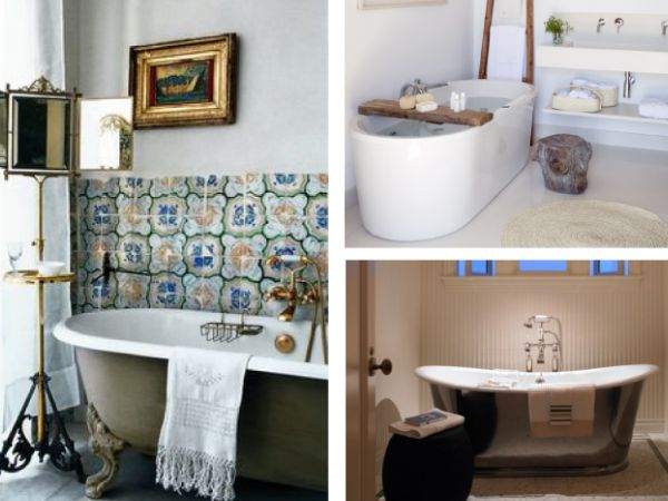 Ideas para decorar tu baño con bañeras exentas