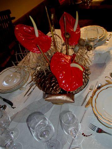Adorno para mesa navide a cl sica - Adornos para la mesa de navidad ...