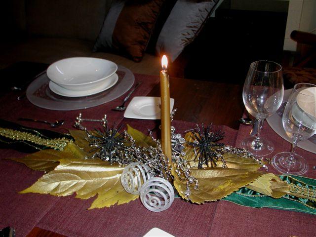 Mesa de navidad sencilla - Adornos para la mesa de navidad ...