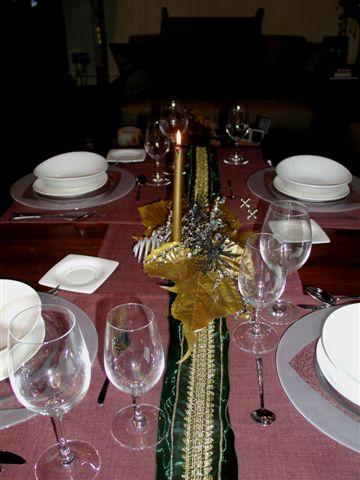Mesa de navidad sencilla - Como adornar una mesa para navidad ...