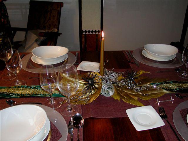 Mesa de navidad sencilla - Mesa para navidad decoracion ...