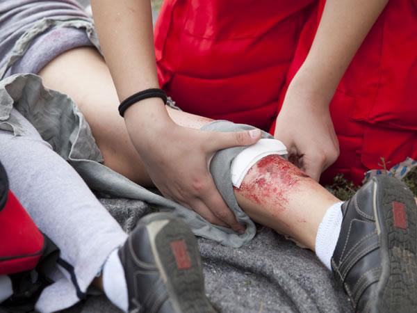 Primeros auxilios herida