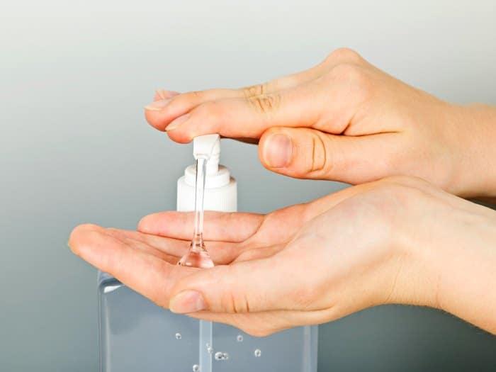 El desinfectante de manos no elimina todos los gérmenes