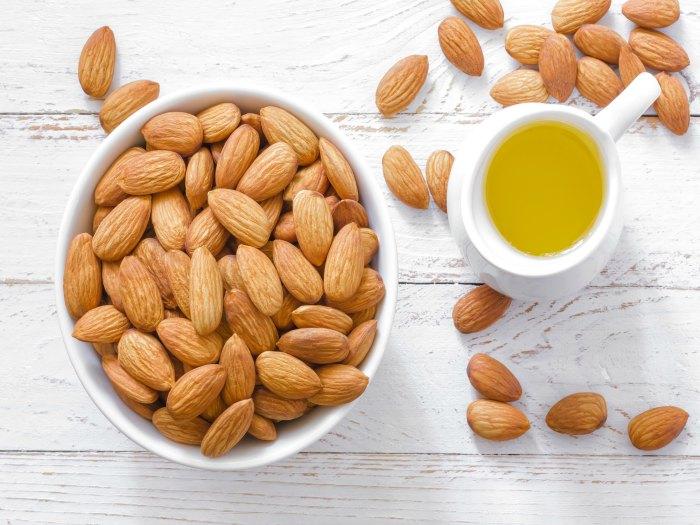 Las almendras son ricas en vitamina E