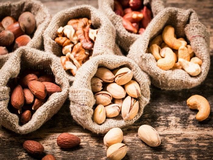 Frutos secos para evitar el envejecimiento