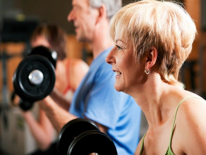 Ejercicios de fuerza para prevenir la osteoporosis