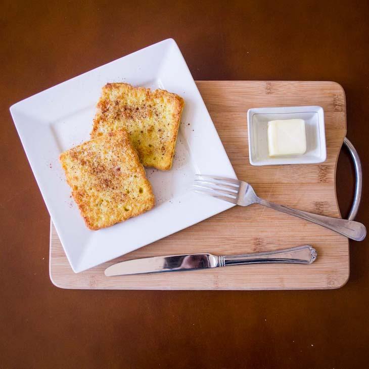 Tostadas francesas para desayuno ceto