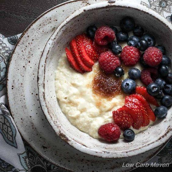 Porridge de coco para dieta ceto