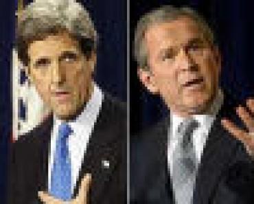 Kerry, Bush y Zapatero, política exterior española