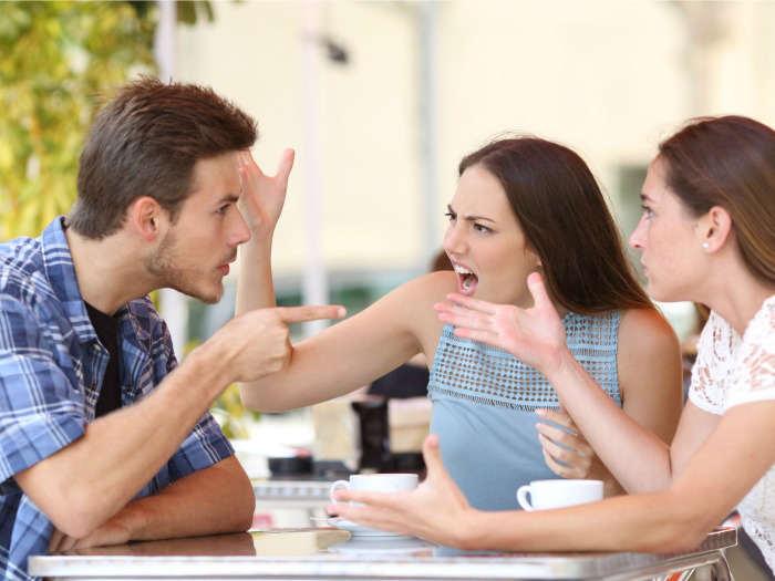Image result for friends quarrel