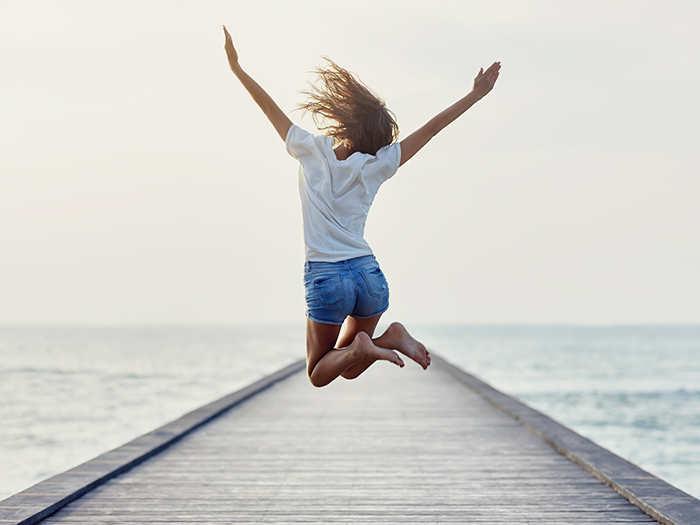 soñar con saltar