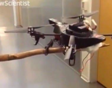 Un nuevo dron con patas puede posarse, ver y caminar como un pájaro