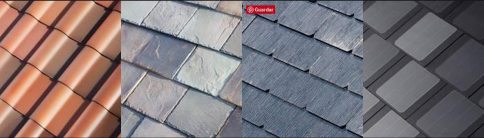Estilos de tejas del tejado solar de SolarCity