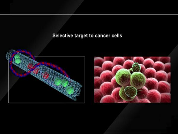 Nanotubo para el tratamiento del cáncer