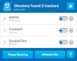 Extensión para Chrome: Ghostery