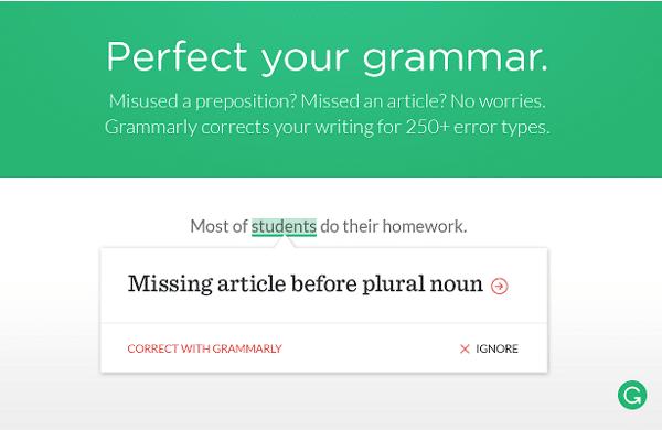 Extensión para Chrome: Grammarly