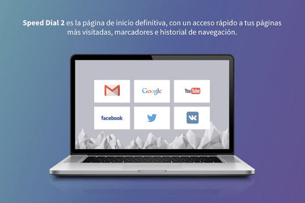 Extensión para Chrome: Speed Dial 2