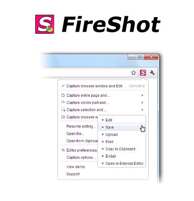 Extensión para Chrome: FireShot