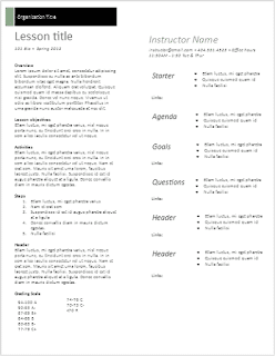 "Plantilla ""Lesson plan"" de Google Docs"