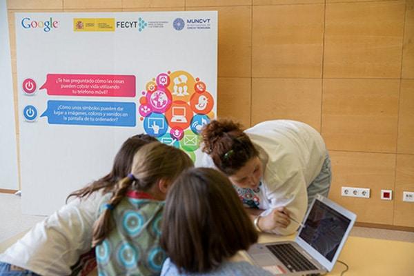 Talleres de programación para niños de Google en Madrid