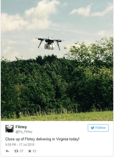 Dron de Flirtey