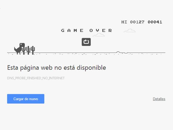 Hay un juego oculto en el navegador Chrome