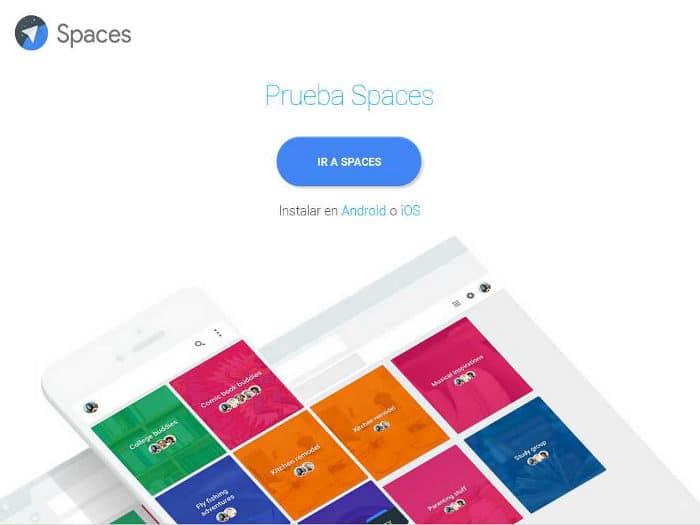 Spaces, la nueva aplicación de Google para compartir contenidos en epqueños grupos