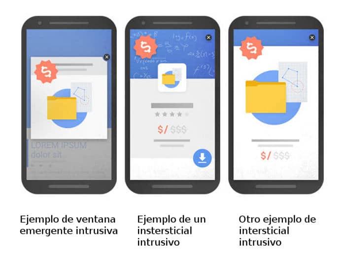 Qué considera Google como anuncios intrusivos