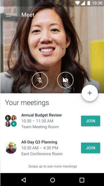 Hangouts Meet y Chat