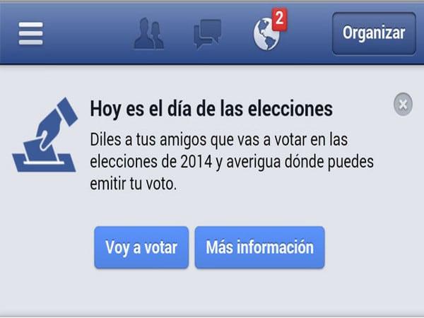 Botón de Facebook para las elecciones