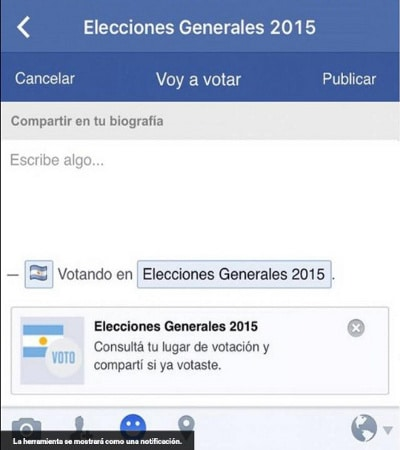 El botón de Facebook en las elecciones generales de Argentina