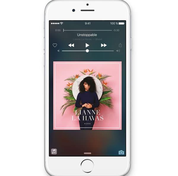 Música en iOS9