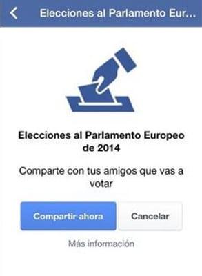 Botón de Facebook en las elecciones al parlamento de la UE