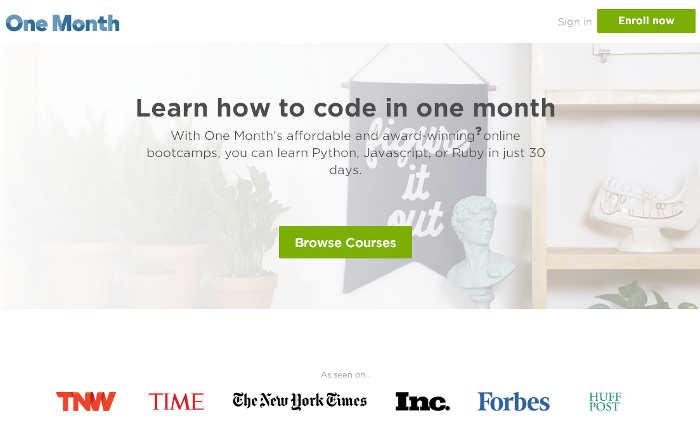 Sitios para aprender cosas nuevas en internet: One Month