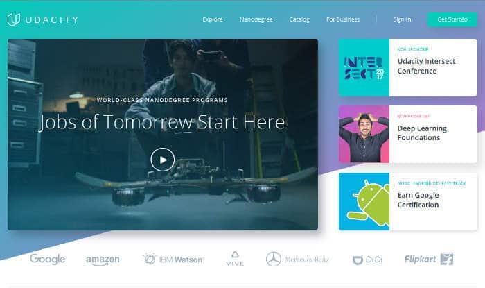 Sitios para aprender cosas nuevas en Internet: Udacity