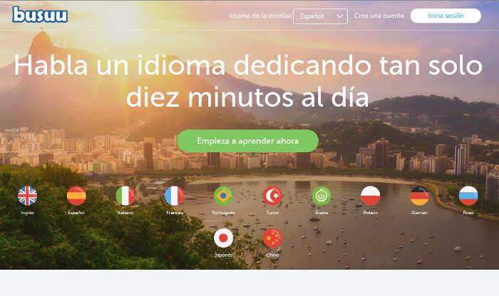 Sitios para aprender cosas nuevas en internet: Busuu