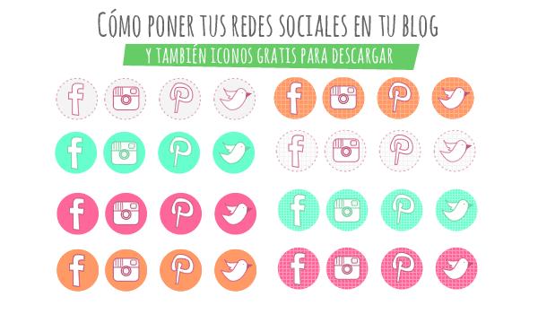 como poner iconos redes sociales en tu blog