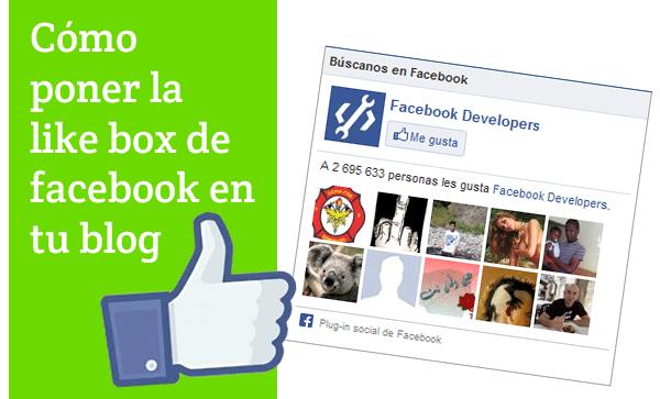 como poner facebook en blogger