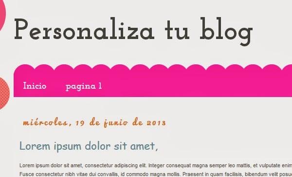 hacer un menu en blogger
