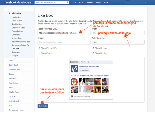 paso1 para integrar like box de facebook en blogger